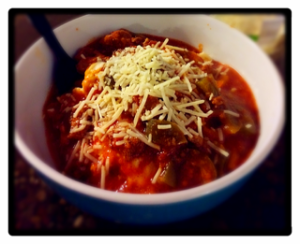Stuffed Pepper Soup Bowl